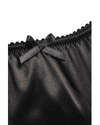 Dolce & Gabbana Stretch-silk Satin Mid-rise Briefs Black