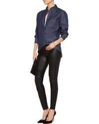 J Brand | Black Tonya Moto-style Leather Skinny Pants | Lyst