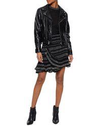 IRO Woman Crepe Mini Skirt Black Size 34