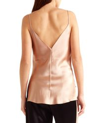 Juan Carlos Obando - Multicolor Woman Asymmetric Silk-satin Camisole Blush - Lyst