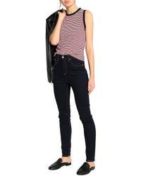 Rag & Bone - Red Striped Cotton Top - Lyst