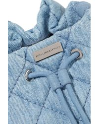 Stella McCartney - Blue Quilted Denim Bucket Bag Light Denim - Lyst