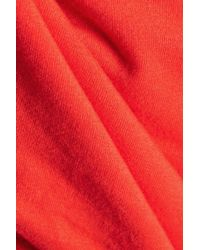 Enza Costa Red Stretch-cotton Jersey Camisole