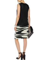 Missoni Black Crochet-knit Wool Skirt