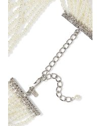 Kenneth Jay Lane - White Silver-tone Faux Pearl Necklace - Lyst