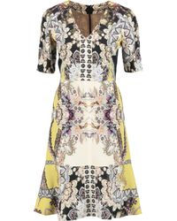 Etro White Printed Silk-crepe Dress