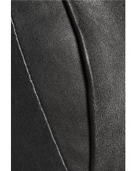 Theory - Black Thaniel L Brim Leather Slim-leg Pants - Lyst