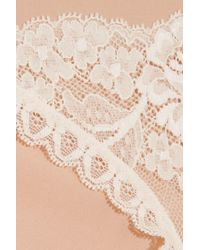 Stella McCartney - Natural Bella Admiring Lace-paneled Stretch-jersey Briefs - Lyst