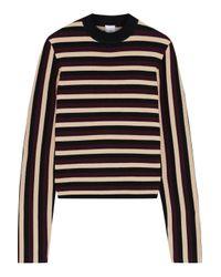 Iris & Ink Seri Striped Merino Wool Sweater Black