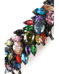 Iosselliani - Multicolor Gunmetal-tone Crystal Bracelet - Lyst