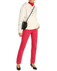 Acne Red High-rise Straight-leg Jeans