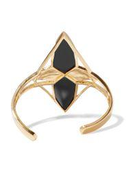 Noir Jewelry | Metallic Kaleidoscope Gold-tone Cubic Zirconia Cuff | Lyst