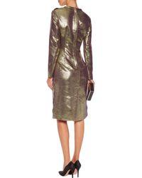Lanvin Metallic Canvas Dress