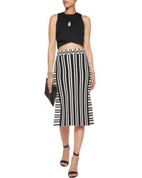Dion Lee Black Cropped Stretch-crepe Top