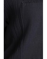 Nina Ricci - Paneled Cotton-blend Sweater Midnight Blue - Lyst