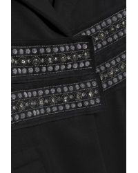 Agnona Black Embellished Cashmere Coat