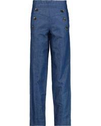 Co. Blue High-rise Straight-leg Jeans