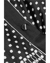 Carven Black Printed Draped Shirt