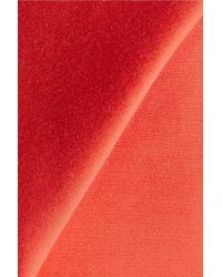 Halston Heritage Red Cotton And Silk-blend Halterneck Dress
