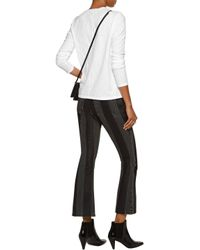 J Brand | White Montara Slub Cotton-jersey Top | Lyst
