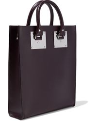 Sophie Hulme Multicolor Mini Albion Leather Tote Merlot