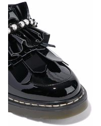 Mother Of Pearl Black Loafers