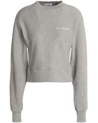 Levi's Gray Embroidered French Cotton-blend Terry Sweatshirt