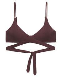 Melissa Odabash Brown Indonesia Wrap Bikini Top