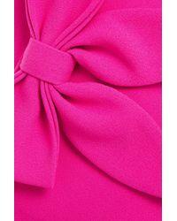 Rebecca Vallance Barbie Bow-embellished Crepe Mini Dress Bright Pink