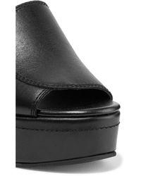 Newbark Black Louisa Leather Wedge Sandals