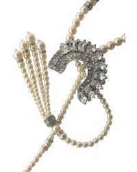 Ben-Amun - White Silver-tone, Faux Pearl And Crystal Necklace - Lyst