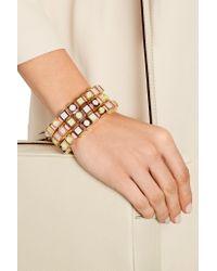 Eddie Borgo - Multicolor Mosaic Cube Rose Gold-plated Bracelet - Lyst