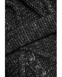 10 Crosby Derek Lam Black Cable-knit Cotton-blend Cardigan