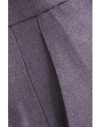Theory Purple Cropped Wool-twill Straight-leg Pants Lavender