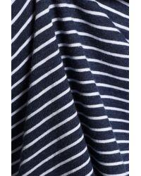 Vince Blue Striped Cotton-jersey T-shirt