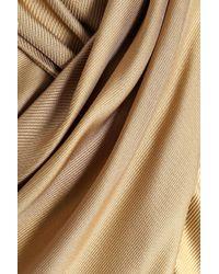 Temperley London - Metallic Wrap-effect Silk-twill Blouse - Lyst