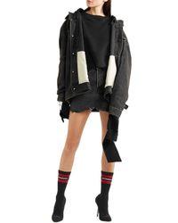 Vetements Woman Intarsia-knit Sock Boots Black Size 41