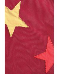 LoveStories - Red Appliquéd Mesh Bodysuit - Lyst