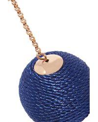 Kenneth Jay Lane - Blue Gold-tone Cord Earrings - Lyst