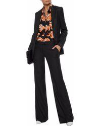Stella McCartney - Black Wool-twill Wide-leg Pants - Lyst