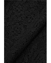 Alice + Olivia - Black Crochet-knit Shorts - Lyst