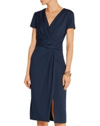 Jason Wu - Blue Wrap-effect Stretch-ponte Dress - Lyst