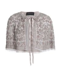 Needle & Thread Multicolor Embellished Tulle Jacket