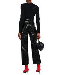Rag & Bone Cutout Stretch-knit Top Black