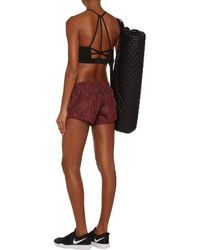 Adidas By Stella McCartney Red Perf Printed Shell Shorts