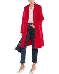 Tibi - Red Wool And Angora-blend Coat - Lyst