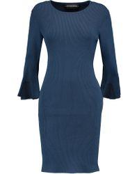 By Malene Birger Blue Ribbed Stretch-jersey Dress