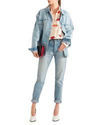 Stella McCartney Blue Oversized Distressed Stretch-denim Jacket