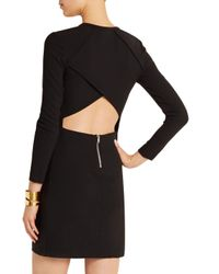 IRO Black Cheryne Cutout Stretch-crepe Mini Dress