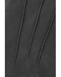 Y-3 Black + Adidas Faux Leather Gloves